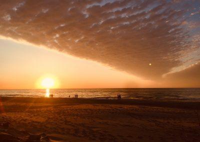 plaża- zachód słońca